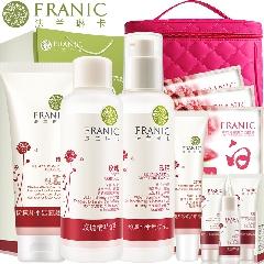 法兰琳卡套装玫瑰粉嫩补水嫩白套装护肤品面部护理女美颜白皙保湿