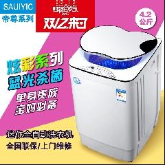 全自动洗衣机单人4.2kg杀菌小型迷你婴儿童波轮带甩干家用大家电